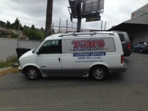 Tom's Automotive West Seattle free shuttle service for customers