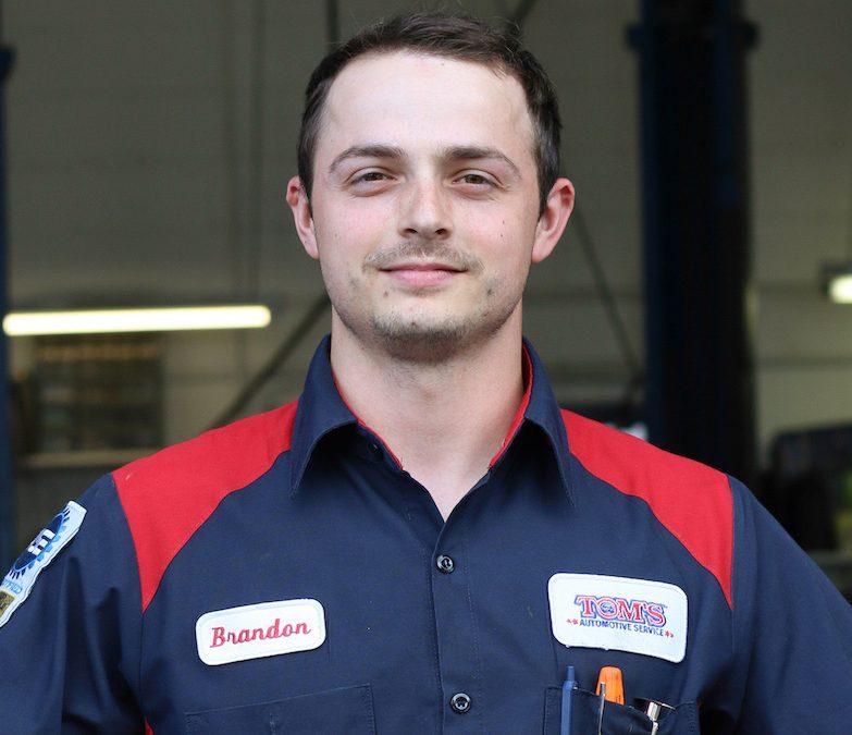 brandon, master technician and subaru specialist headshot from Tom's Automotive Service